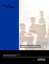 Strategy Execution: Setting - Hitachi Consulting