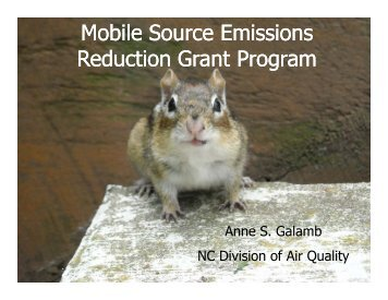 Mobile Source Emissions Reduction Grant ... - NC Project Green