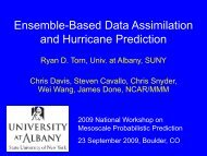 Ensemble-Based Data Assimilation and Hurricane Prediction