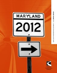 Annual Report Calendar Year 2012 - Maryland Transportation ...