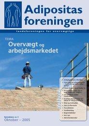 Nr. 3 - Tema Overvægt og arbejdsmarkedet - Adipositasforeningen