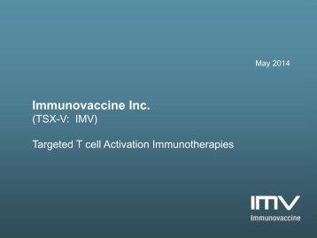 Immunovaccine presentation May 2, 2014(1)