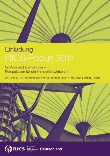 Programm RICS-Focus 2011
