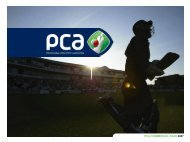 pca commercial pack 2007 - The Professional Cricketers' Association