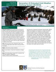 Generation III Extended Cold Weather Clothing System (ECWCS)