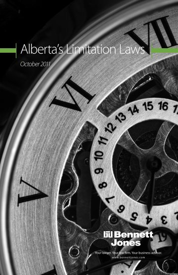 Alberta's Limitation Laws - October 2011 - Bennett Jones