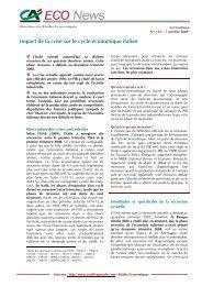 Impact de la crise sur le cycle économique italien - Etudes ...