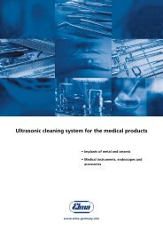 Ultrasonic cleaning system for the medical products - Edeltec
