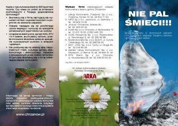 Pobierz ulotkę w formacie pdf. - Chrzanów