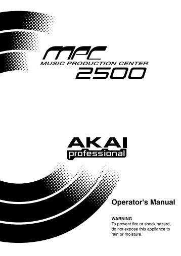 Akai MPC2500 Manual - Platinum Audiolab
