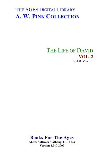The Life of David - Vol. 2 - Holy Bible Institute