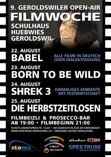 Flyer Openair Filmwoche 07 - Spektrum Geroldswil