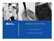 Verification Experiments