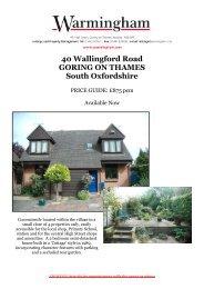 40 Wallingford Road GORING ON THAMES South ... - Warmingham