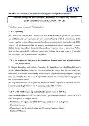 Protokoll - Netzwerk Nachhaltige Stadtentwicklung Sachsen