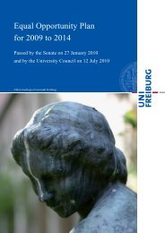 Equal Opportunity Plan for 2009 to 2014 - Gender und Diversity Portal