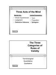 Traditional Logic I Chapter XII - Memoria Press