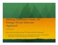 1 Making Databases Green: An Energy-Aware DBMS Approach