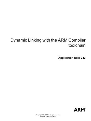Dynamic Linking with the ARM Compiler toolchain Application Note ...