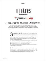 The Luxury Watch Observer / pour Montres Magazine - Opinionway