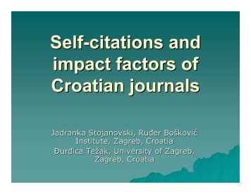 Self-citations and impact factors of Croatian journals