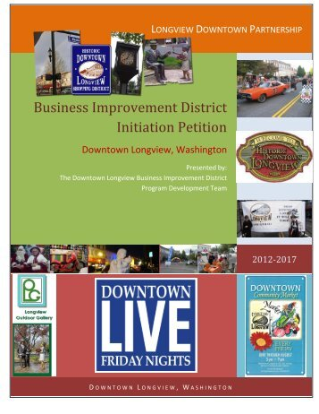 Business Improvement District Initiation Petition - City Council Agenda