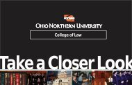 Take a Closer Look... - Ohio Northern University Pettit College of Law