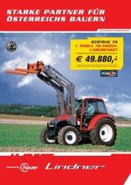 Hauer POM-L 70 + Geotrac 74 - Lindner Traktoren