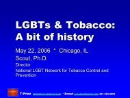 LGBT Tobacco History.pdf - National LGBT Tobacco Control Network