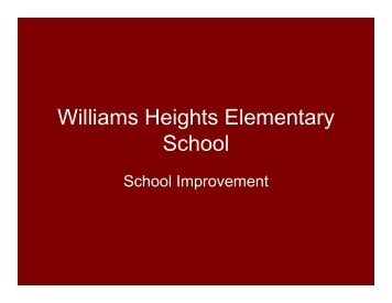 Williams Heights Elementary School