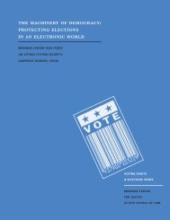 the machinery of democracy: protecting elections in an electronic ...