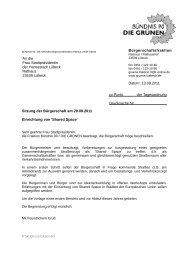 Eleganter Brief - Bündnis 90/Die Grünen Lübeck
