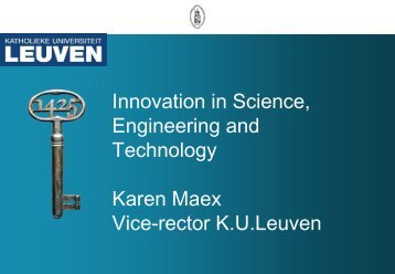 Innovation in Science, Engineering and Technology Karen Maex ...