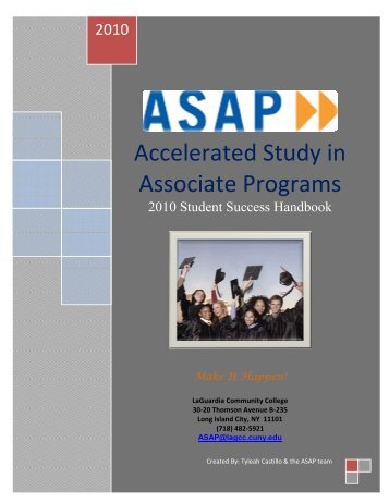 Accelerated Study in Associate Programs - LaGuardia Community ...
