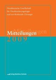 Mitteilungen - Norddeutsche Gesellschaft für Otorhinolaryngologie