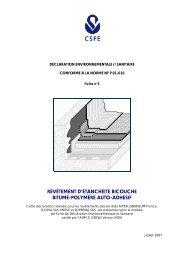 Fiches de déclaration environnementale et sanitaire - Axter