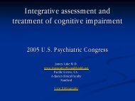 Integrative Assessment and Treatment of Cognitive Impairment