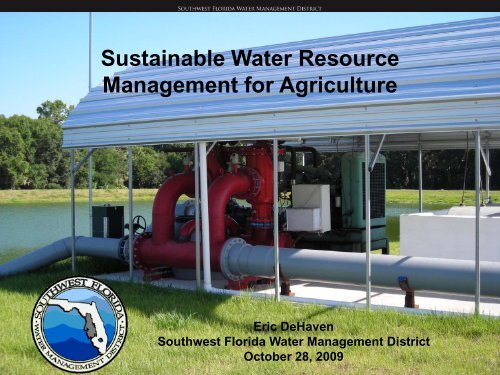 Water Management District Perspective on ... - Florida Ag Expo