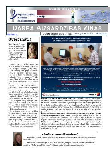 darba aizsardzības ziņas - European Agency for Safety and Health ...