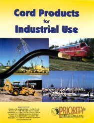 Cord Products for Industrial Use - Priority Wire & Cable