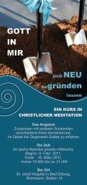 GOTT IN MIR begründen - Pastoralverbund Bad Driburg