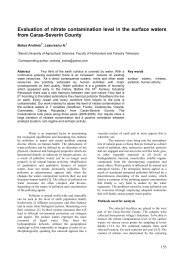 Evaluation of nitrate contamination level in the surface waters from ...