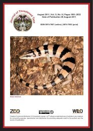 August 2011 - Journal of Threatened Taxa