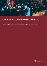 ENERGIE BESPAREN IN DE HORECA. - Vlaanderen
