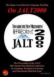The Japan Association for Language Teaching ... - JALT Publications