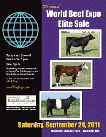 2011 World Beef expo ELITE SALE - the World Beef Expo