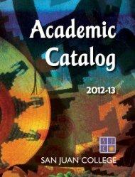 Full SJC Academic Catalog 2012-13 - San Juan College