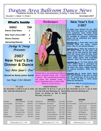 11 11November2007Newsletter - Ballroom Dance Dayton