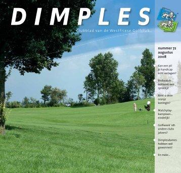nummer 72 augustus 2008 Clubblad van de Westfriese Golfclub