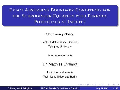 Exact Absorbing Boundary Conditions for the Schrödinger